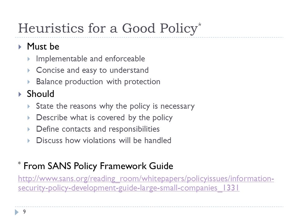 sans security policy templates - security policy forensics and incident response legal