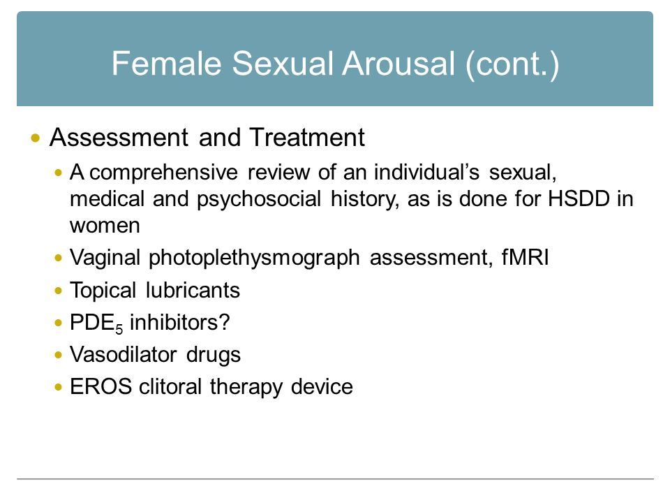 Female sexuality arousal disorder