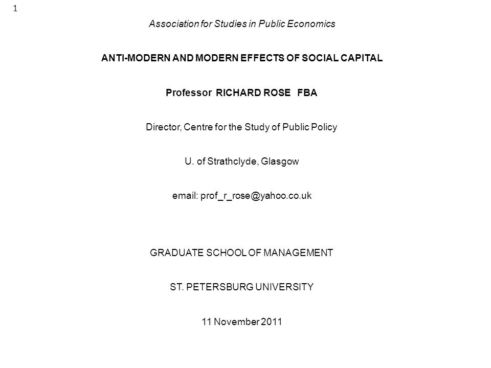 Association for Studies in Public Economics