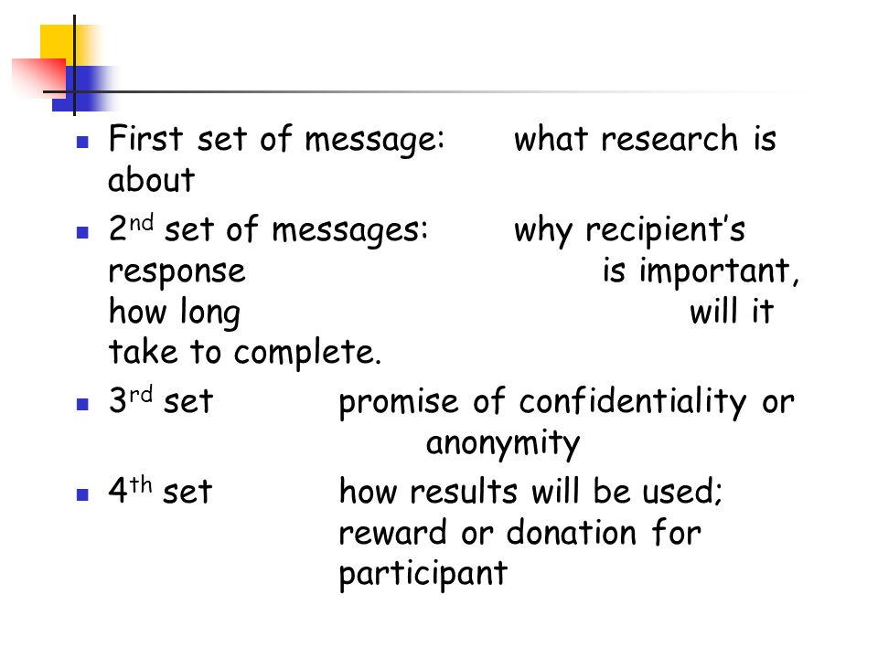First set of message: what research is about