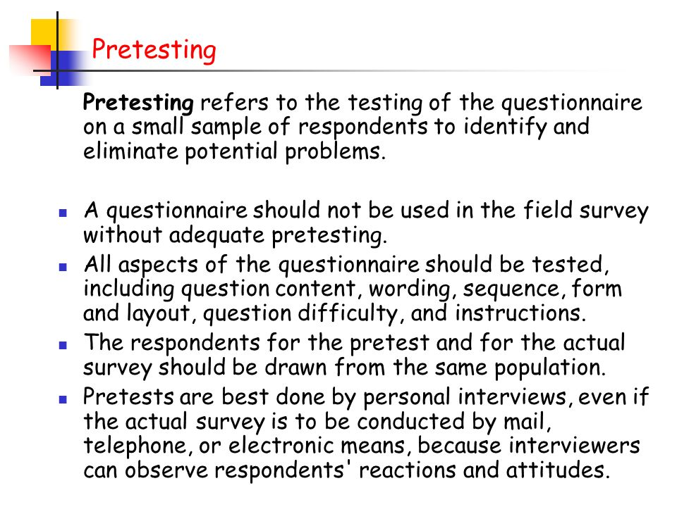 pretesting feedback essay Guest essay pre-, post- & analytical errors we've often heard the opinion that the quality control of laboratory testing isn't the pre-analytical and post.