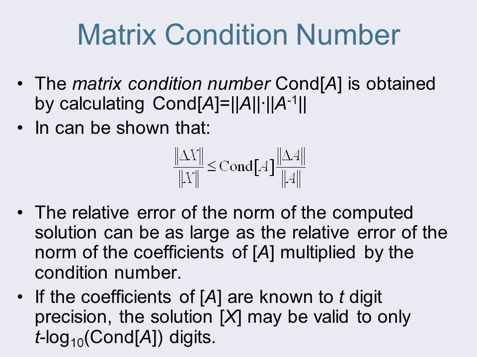 how to find condition number of a matrix