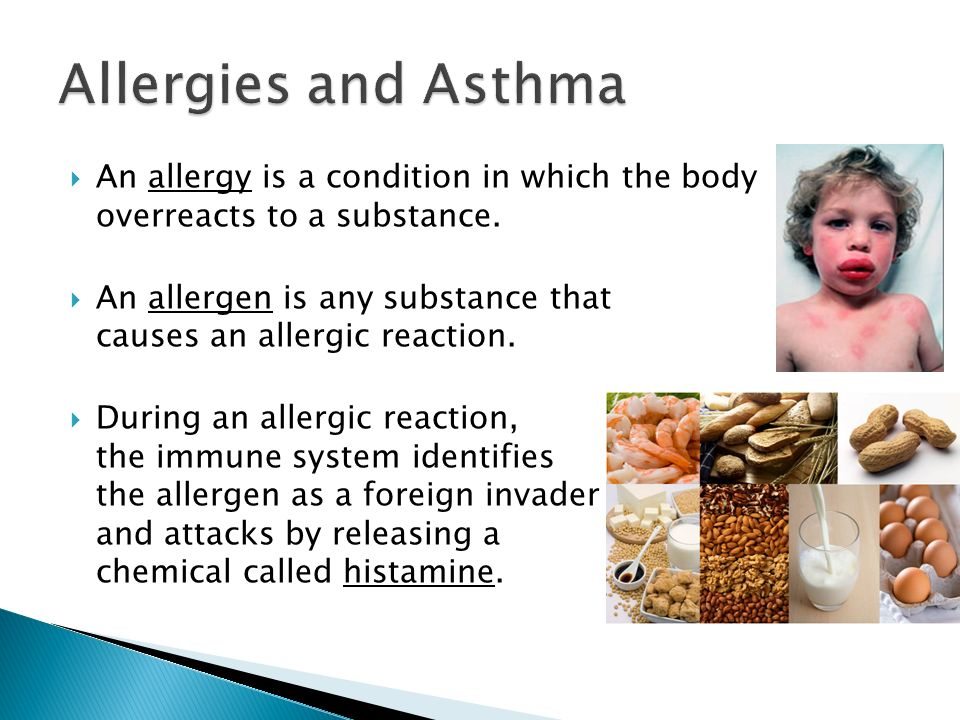 a response of the immune system to allergies ans asthma If you have allergies, though, part of your immune system works too hard it may attack harmless substances -- like cat dander or pollen -- in your nose, lungs , eyes , and under your skin.