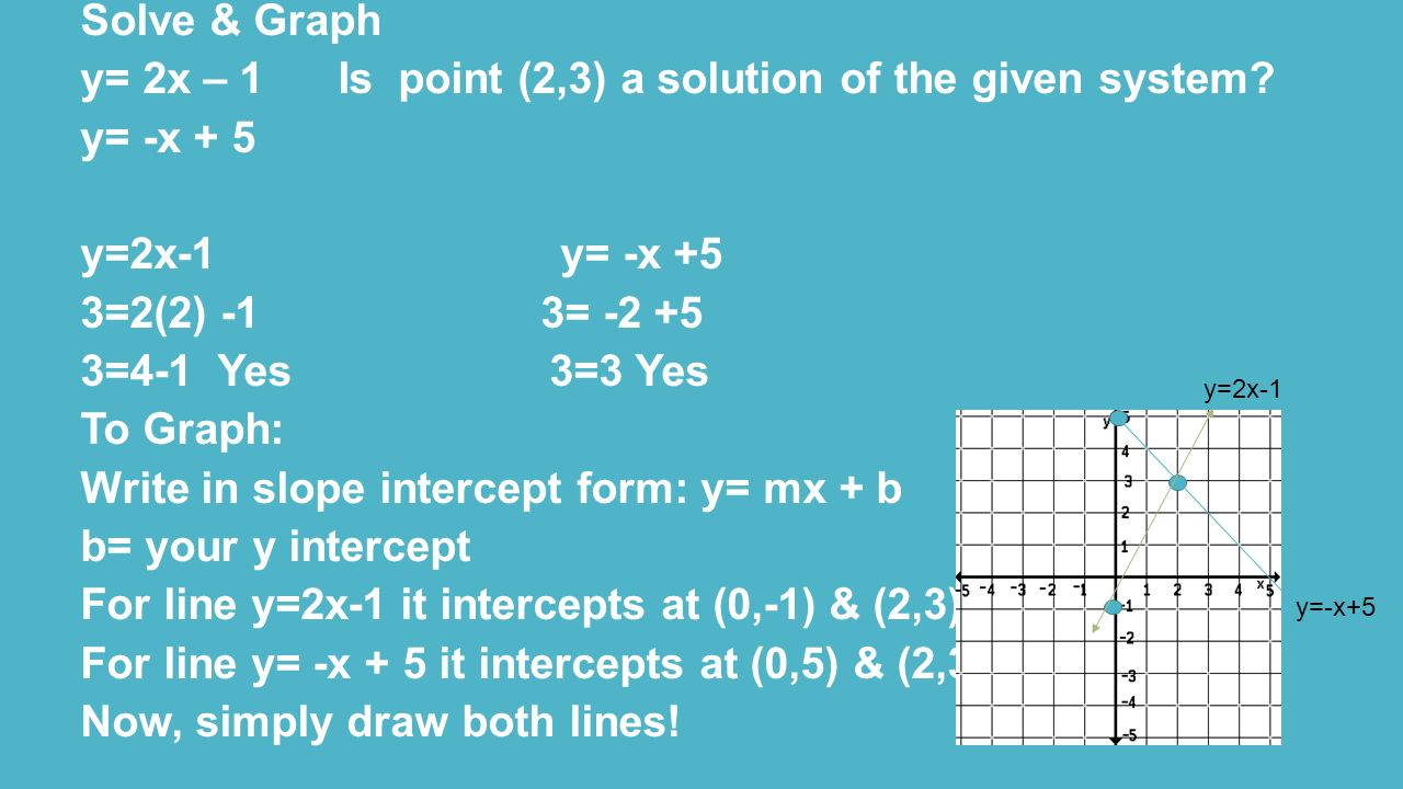 Quiz: Linear Equations: Solutions Using Graphing with Two Variables