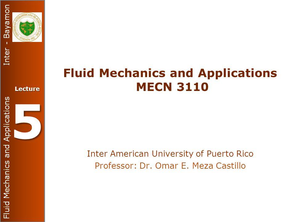 Fluid Mechanics and Applications MECN 3110