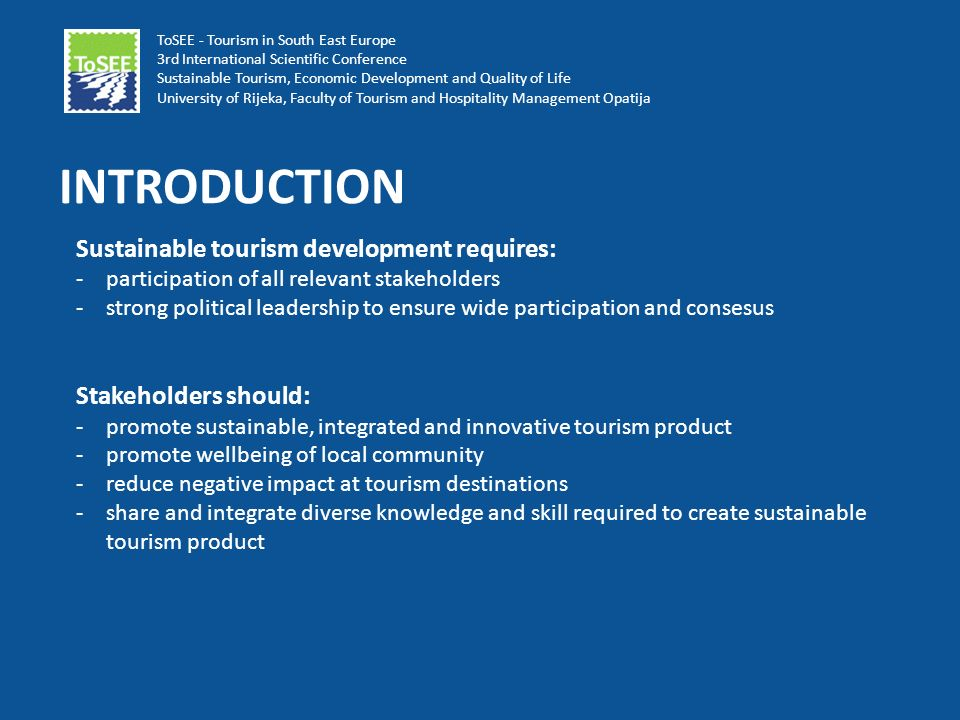 stakeholder management in tourism and hospitality The emirates academy of hospitality management is a university in dubai  for hospitality and tourism,  through a systematic process of stakeholder.