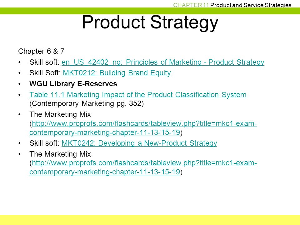 setting product strategy Chapter 12 ::: setting product strategy summary ::: product characteristics and classifications product levels: the customer value hierarchy the.