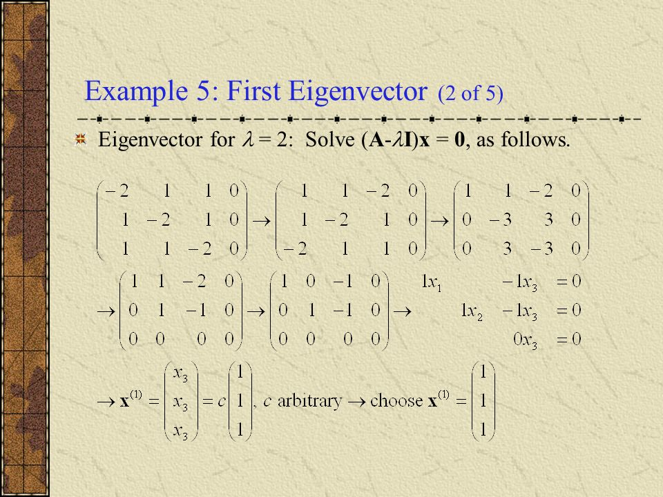 Example 5: First Eigenvector (2 of 5)