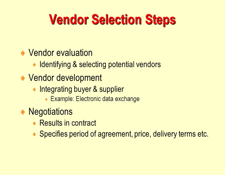 supplier selection for the contract of The selection of suppliers, design of supplier contracts, product design collaboration, procurement of material, and evaluation of supplier performance are a part of sourcing price has traditionally been the only dimension that suppliers have been compared on during the process of.
