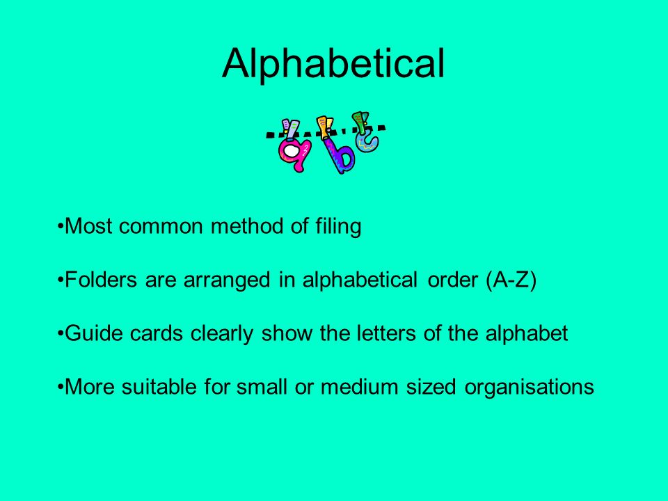 how to do filing in alphabetical order