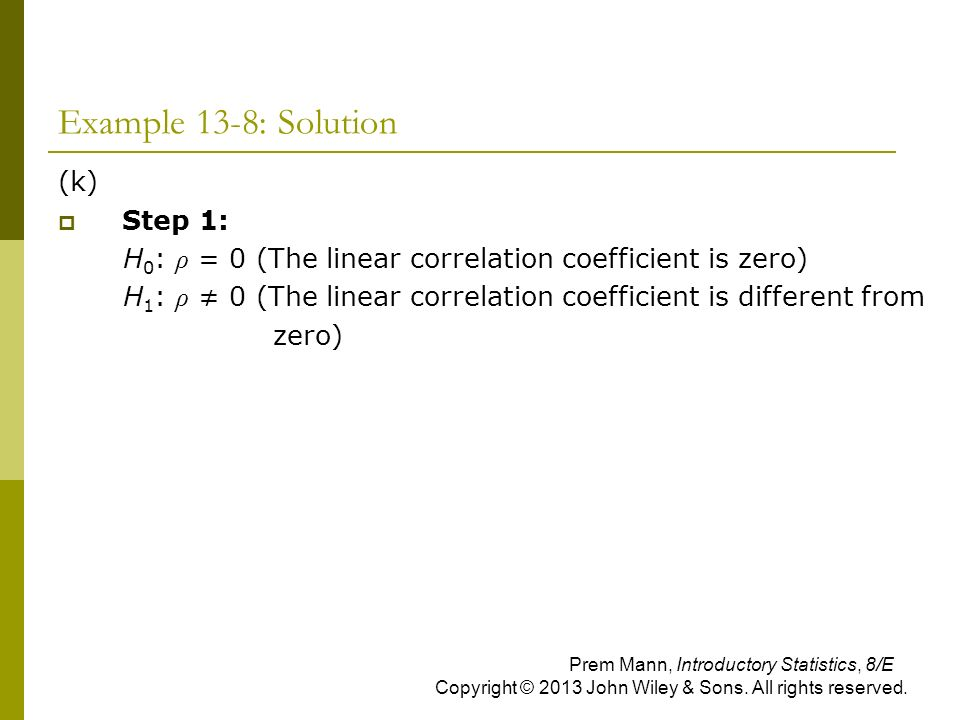 Example 13-8: Solution (k) Step 1: