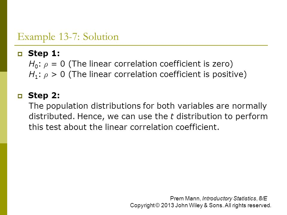Example 13-7: Solution Step 1: