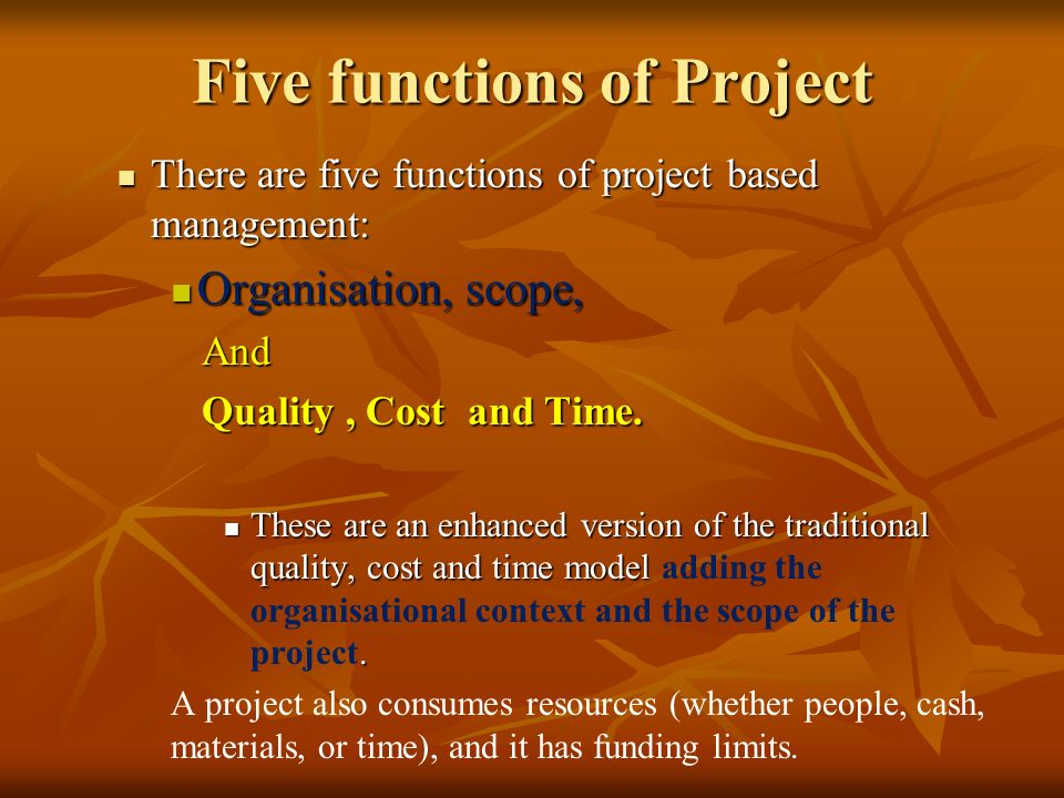 Five functions of a team