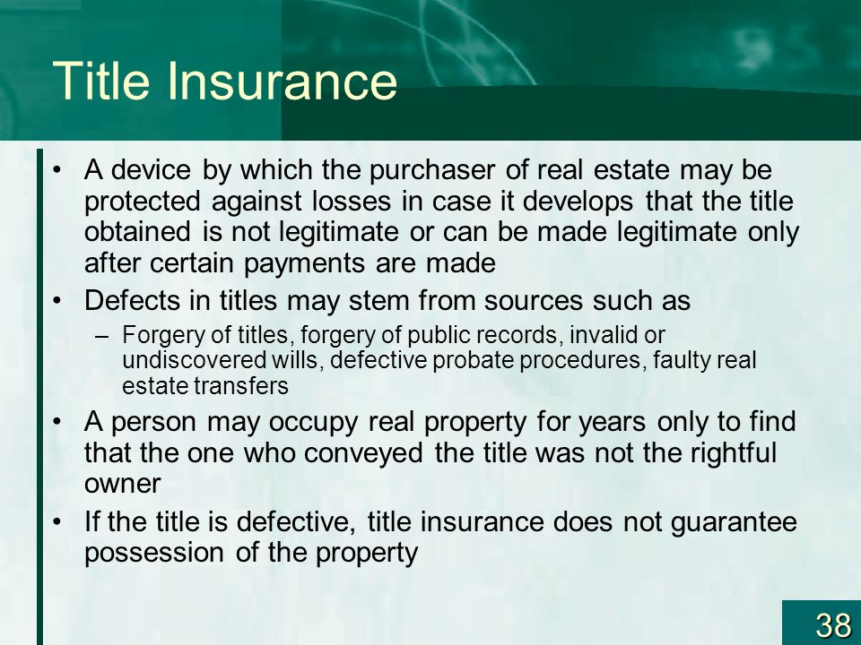 Defective Title Insurance - Blog - Burke Insurances Ltd.