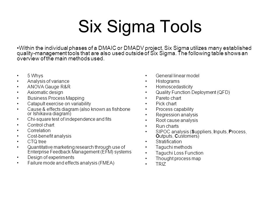 Six sigma ppt video online download six sigma tools ccuart Images