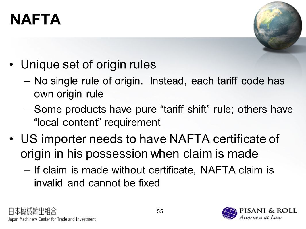 Us customs trade compliance what japanese exporters need to 55 nafta xflitez Gallery