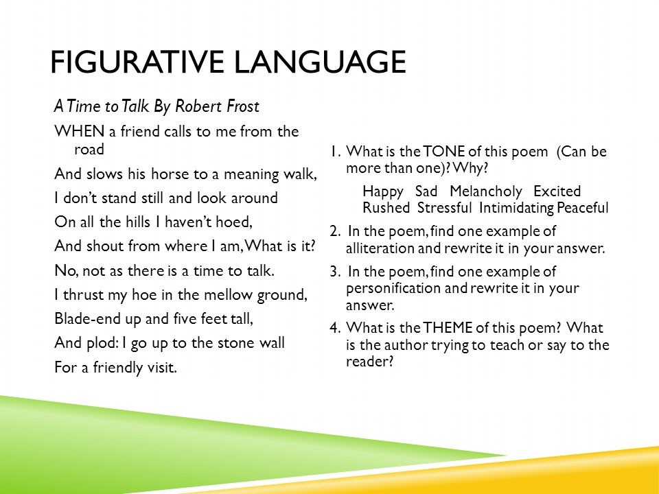 Figurative Language Write down 6 different types of ...