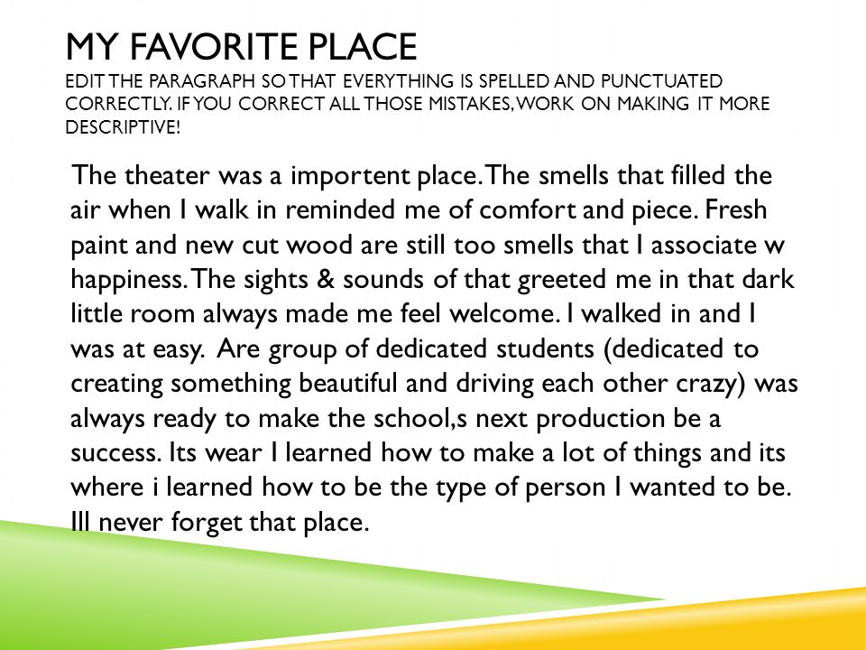 Favorite place essay