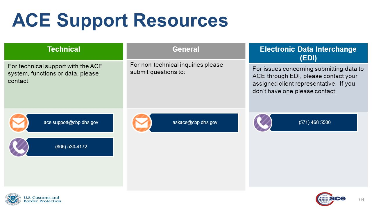 An Update on ACE – Single Window ACE Business Office and ...