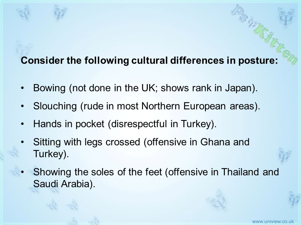 Cultural Differences in Posture