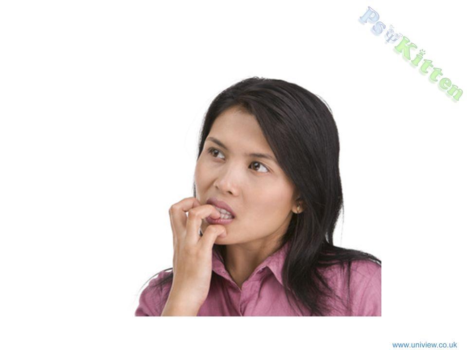 Woman biting fingers
