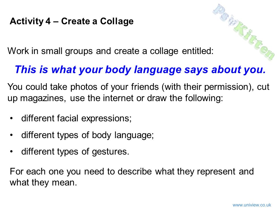 Activity 4 - Collage on Body Language