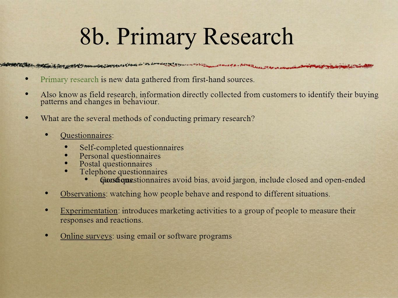 Primary Research Paper