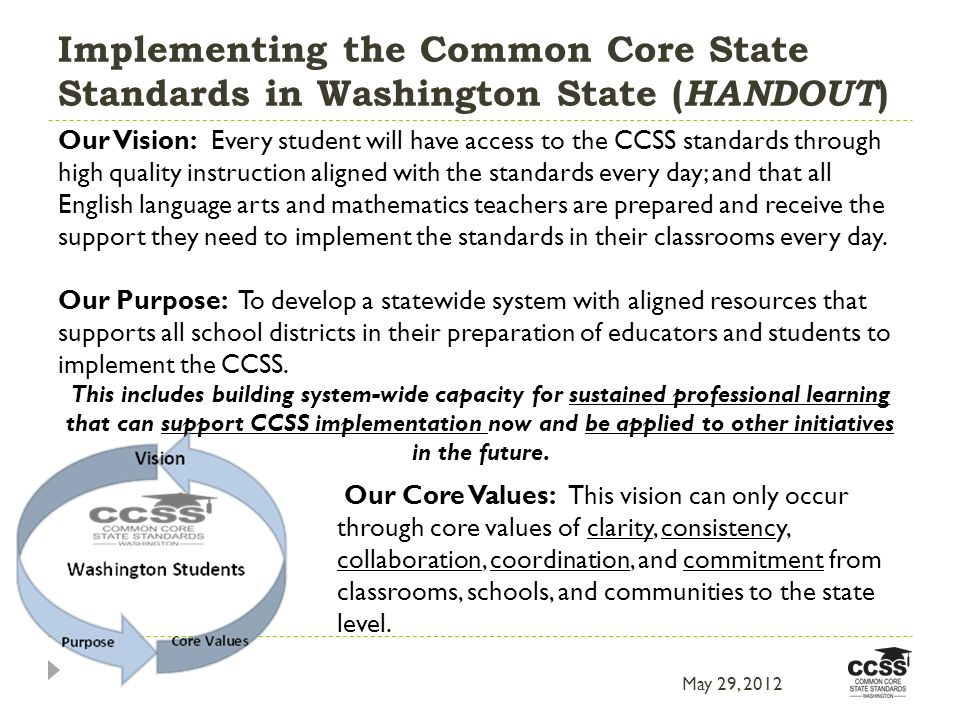 the implementation of common core standards in public education As california moves ahead with implementation of its common core standards, it is coming up against a major challenge long-anticipated by education leaders: ensuring that teachers across the state know how to effectively teach according to the new standards in math and english language arts.