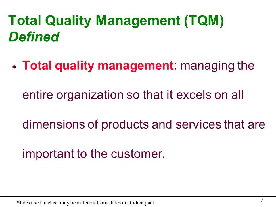 customer focus in tqm pdf