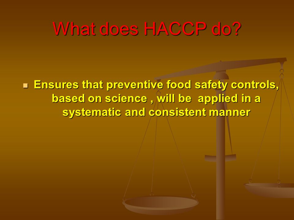 What does HACCP do.