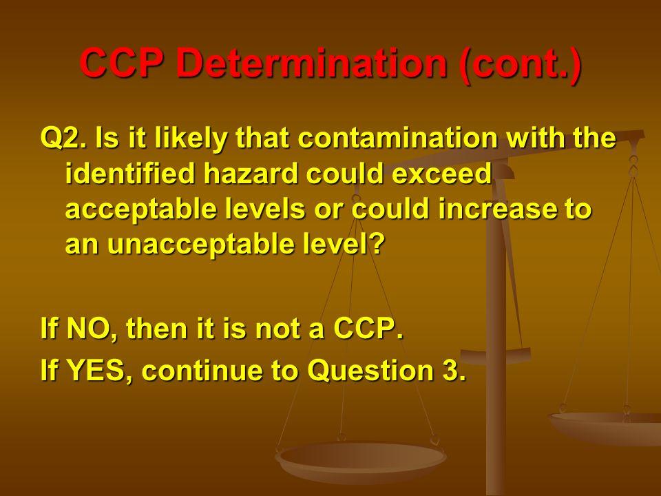 CCP Determination (cont.)