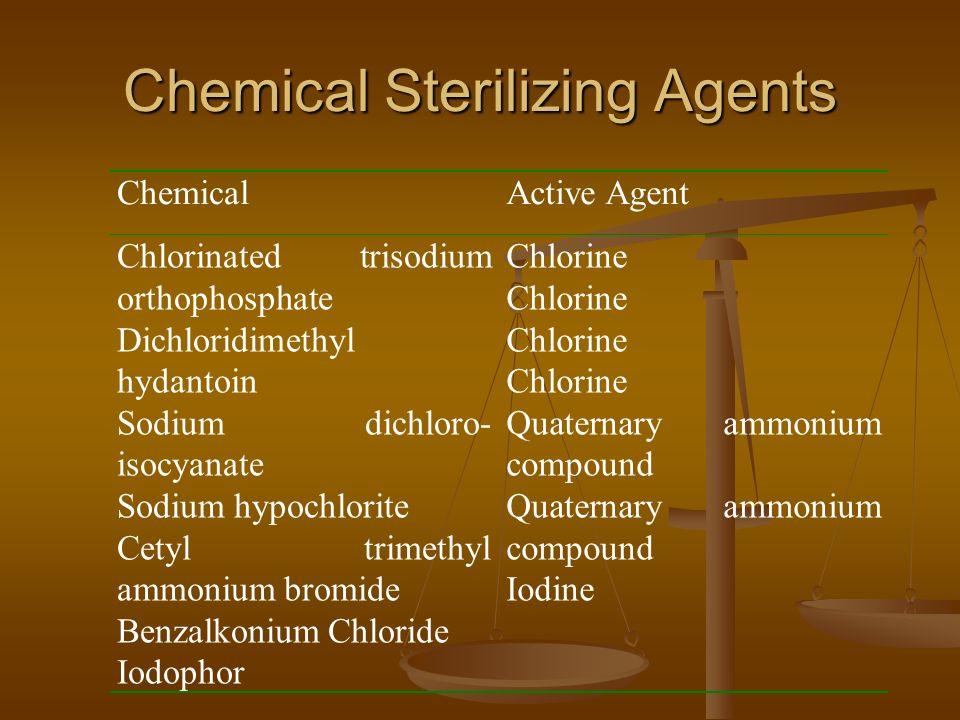 Chemical Sterilizing Agents