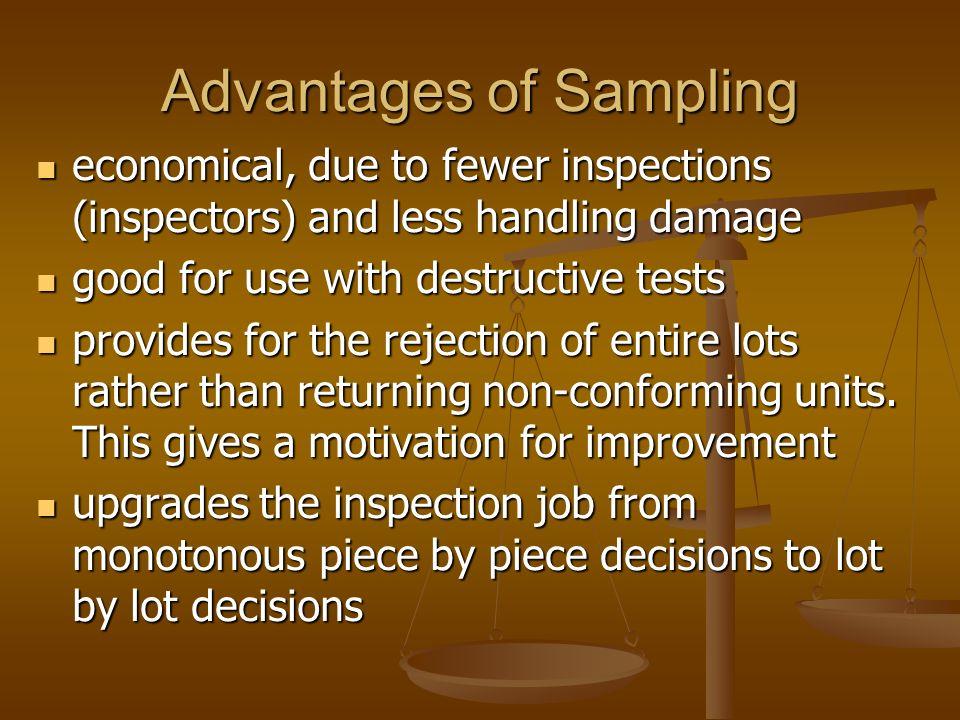 Advantages of Sampling