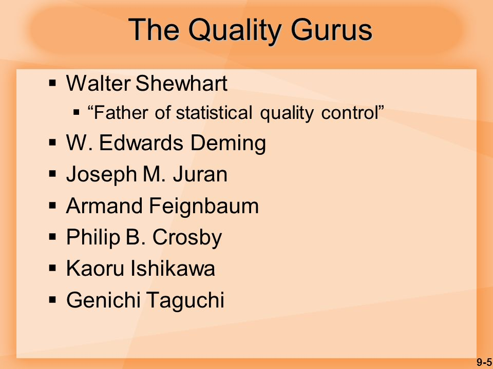 the 3 quality gurus deming juran Video: deming, juran & crosby: contributors to tqm w edwards deming, joseph juran and philip b crosby are three of the most influential people involved in the shift from production and.