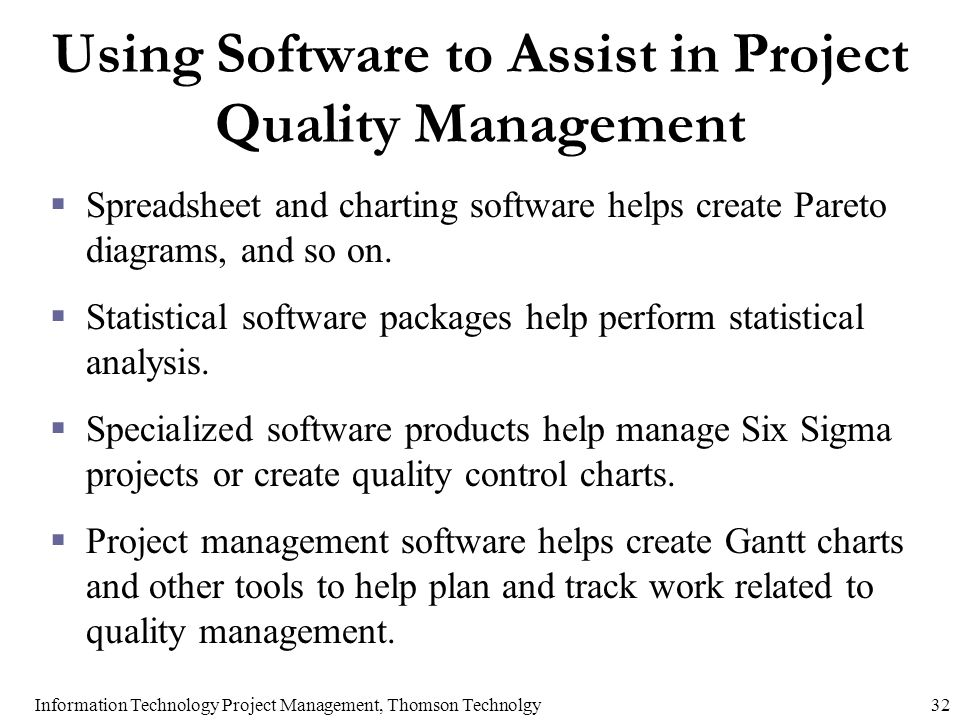 Chapter 8 project quality management ppt video online download using software to assist in project quality management ccuart Choice Image