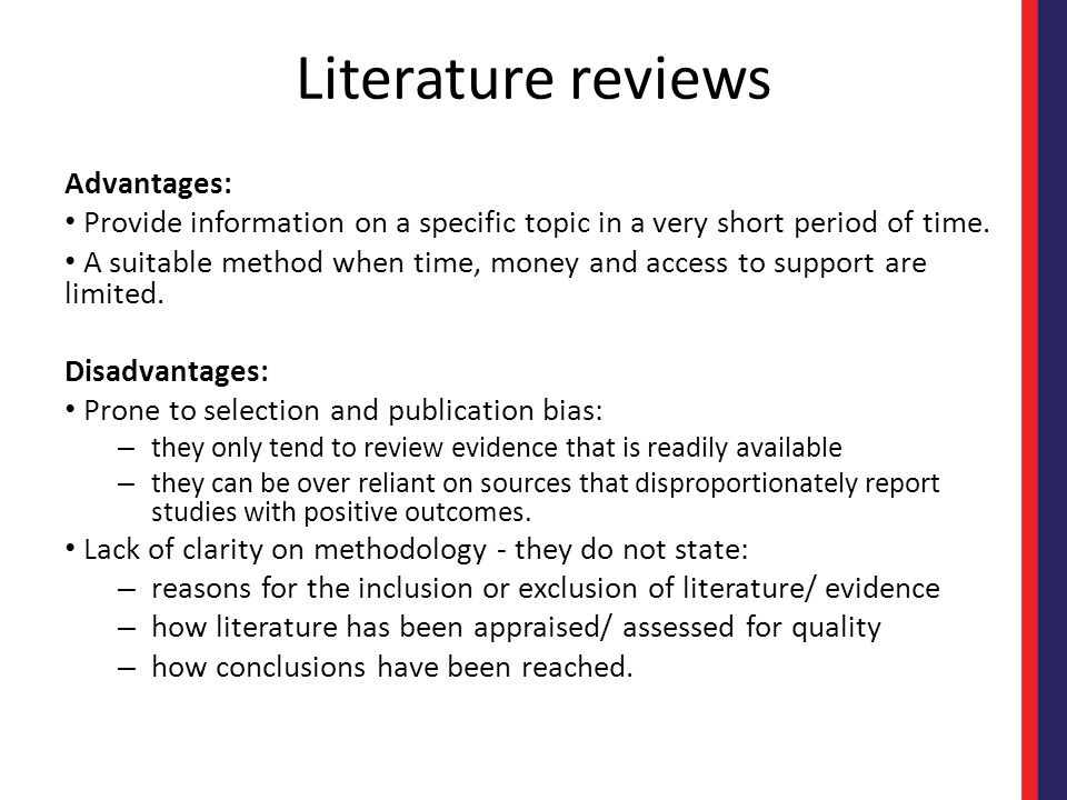 Disadvantages of internet for literature review