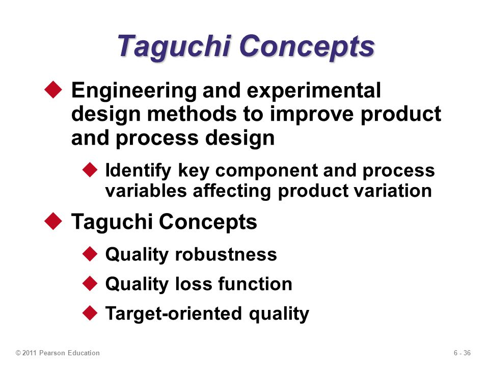 taguchi problems Commentary on taguchi's parameter design with dynamic characteristics arden miller department of stalislics, university of auckland tary is to point out some problems associated with taguchi's approach to parameter design for.