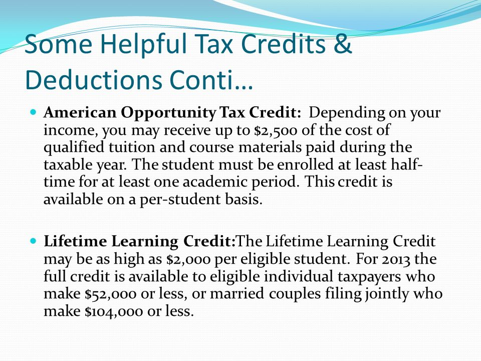 how to get the american opportunity tax credit