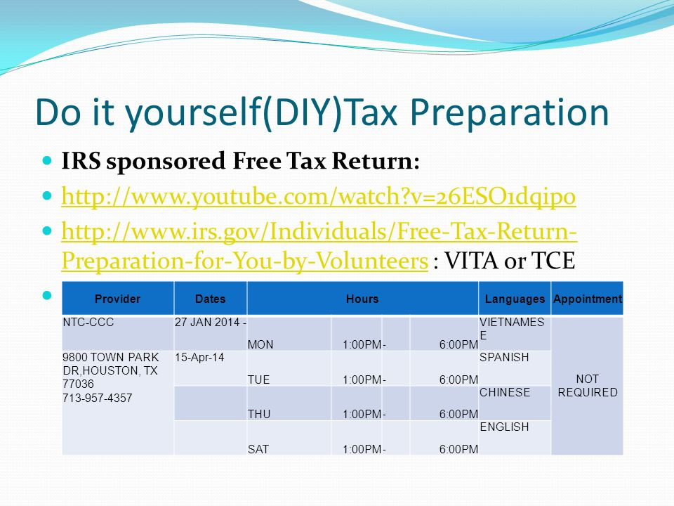 Presented by jacky suncpa tsbpa ppt download 34 do it yourselfdiytax preparation solutioingenieria Images