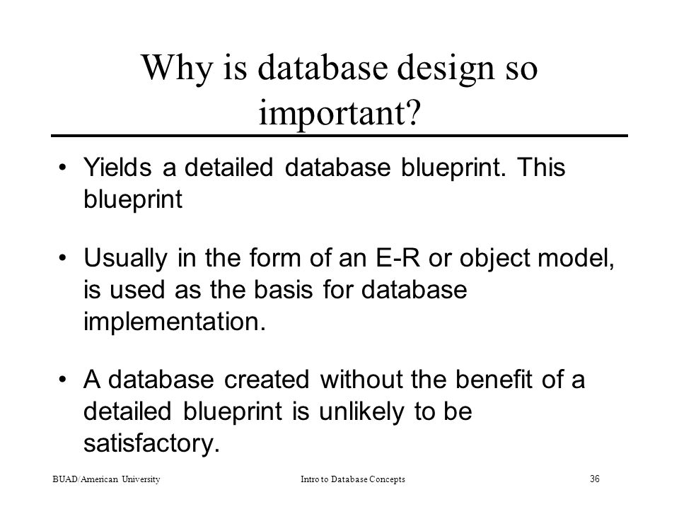 why good database design is important What is normalisation (or normalization)  normalization is basically to design a database schema such that  it is very important by having a database with.