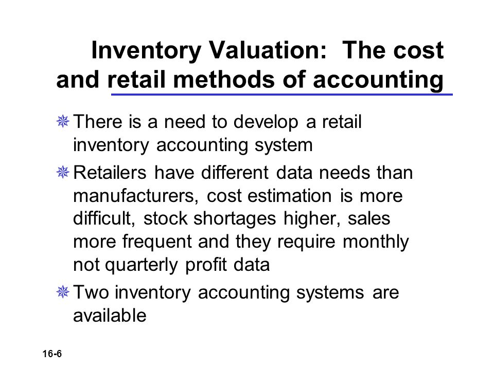 an introduction to the retail inventory management and inventory accounting One of the biggest steps forward in barcode scanning is the introduction of smartphone  retail light manufacturing  inventory management and accounting software.