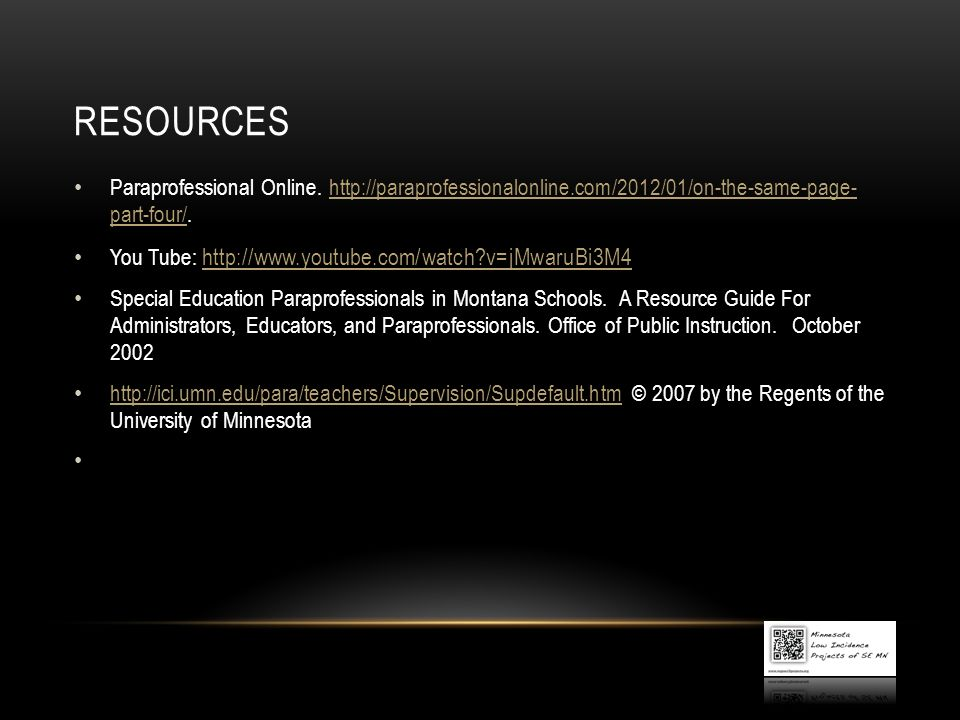 Resources Paraprofessional Online.   part-four/.