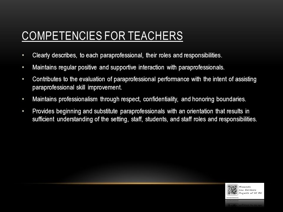 COMPETENCIES for teachers