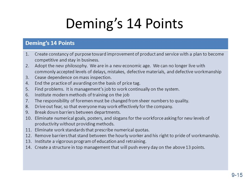 Deming's 14 Points and How They Can Make You Better