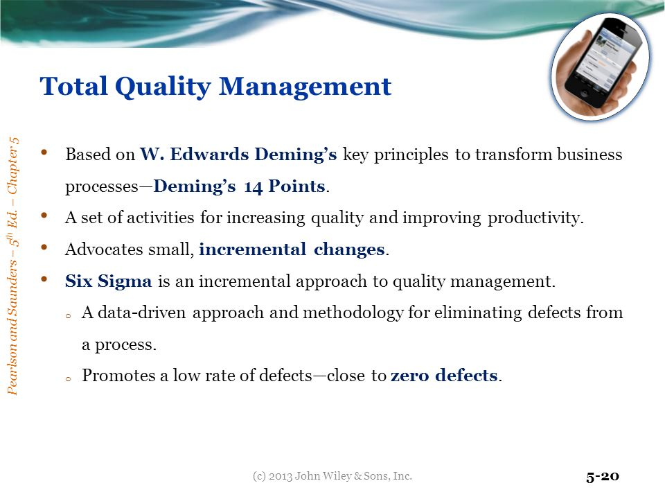 total quality management based on deming s Total quality management: a continuous improvement process  deming's fourteen points for total quality  management is a management philosophy based.