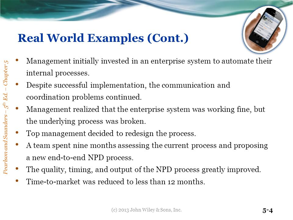 Information Systems For Managing Business Processes Ppt