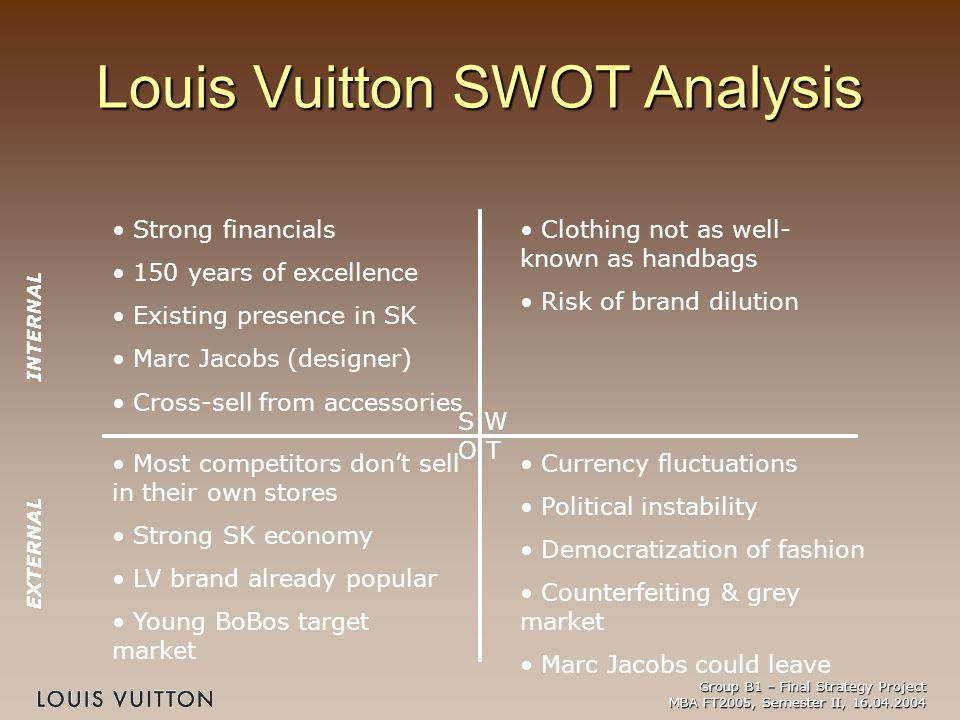 lvmh swot analysis swot for Market analysis of lvmh  tows and swot analysis according to (uk essays, 2010), (bbc news, 2011), (key note, 2009), (datamonitor,2009) and (p, kotler 2010) , jennifer weil (2010)  as a short term market analysis benefits lvmh company to find the opportunities and threats and minimizes the risk of certain business decisions.