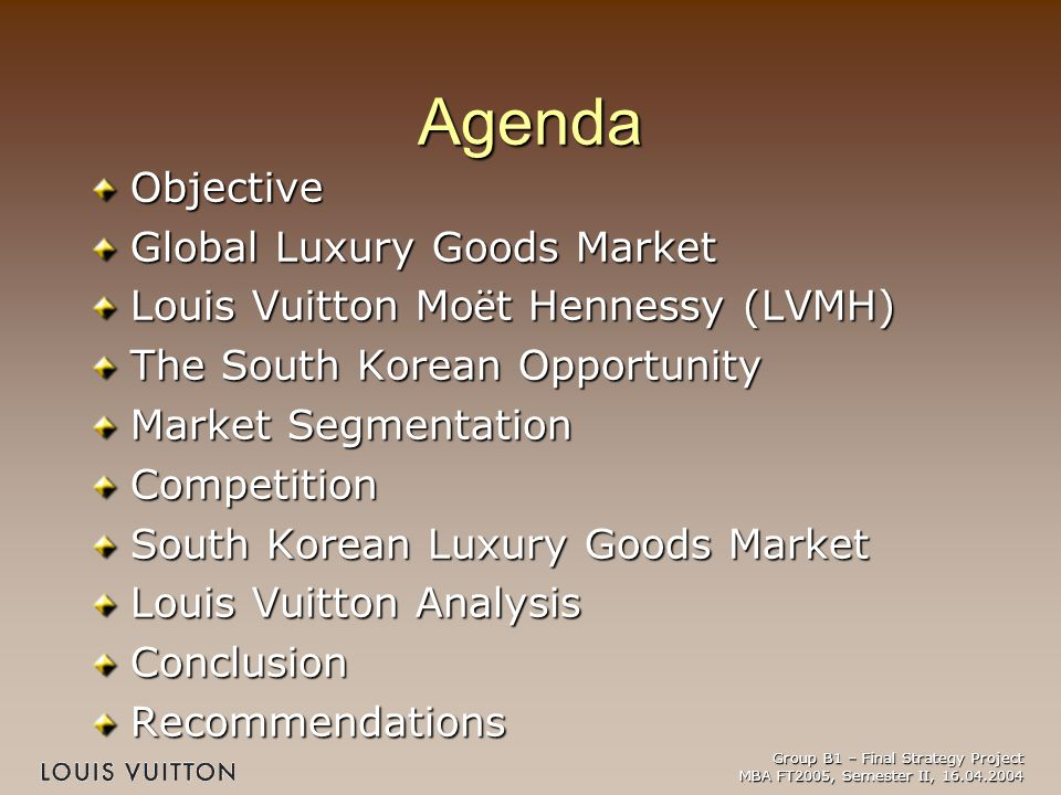 louis vuitton m et hennesey lvmh pestle analysis About lvmh lvmh moet hennessy louis vuitton is the world's leading luxury products group (lvmhlvmh is active in selective retailing through dfs strategic and financial analysis of lvmh moet hennessy louis documents similar to lvmh strategy skip carousel.