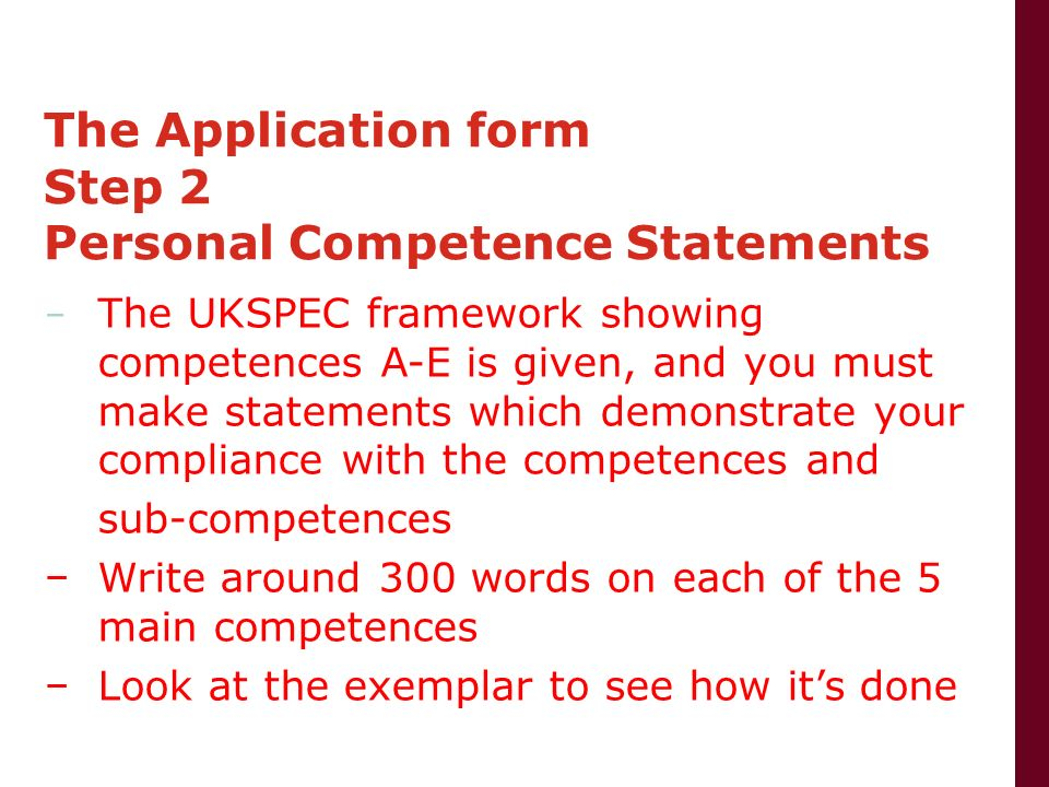 statements of competence Cda competency standards fully prepares you for the cda assessment  and takes advantage of opportunities to improve knowledge and competence,.