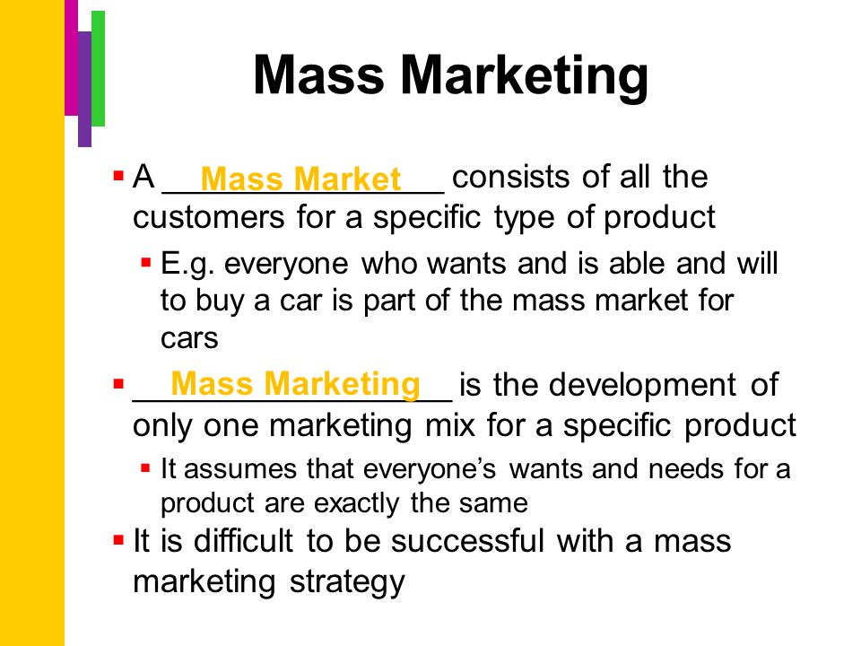 Unit 2: Reaching Your Market Ch 5: Targeting A Market ...